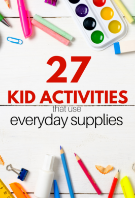 kid activities with simple supplies