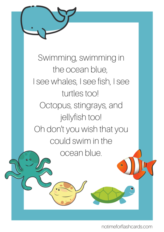 no time for flash cards ocean blue song