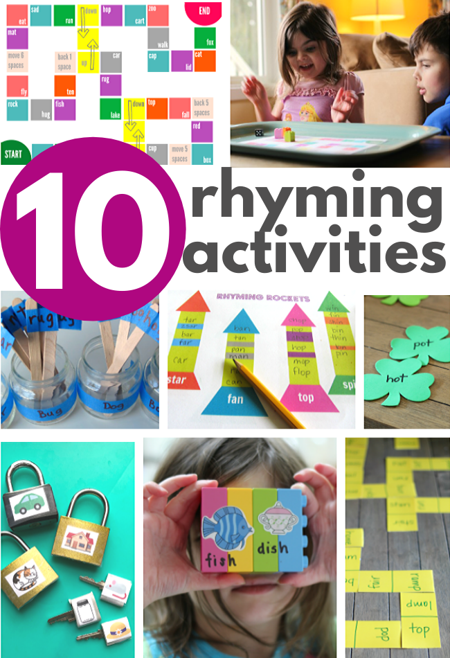 rhyming activities for preschool and kindergarten