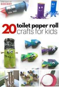 paper roll cardboard tube crafts for kids