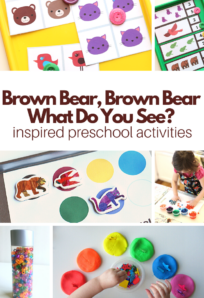 preschool activities inspired by brown bear brown bear