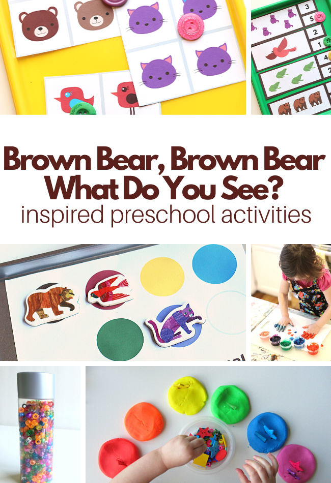 Preschool Activities For Brown Bear, Brown Bear What Do You See? (with Free  Printables) - No Time For Flash Cards