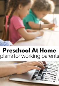 preschool at home plan for working parents