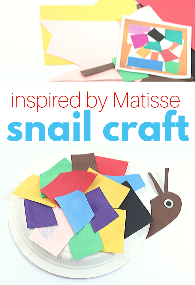 preschool craft for spring snail