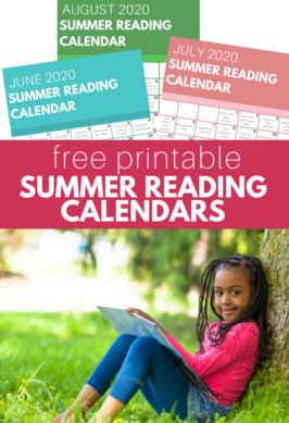 summer reading calendars