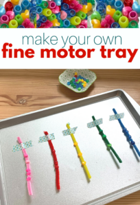 fine motor tray for preschool
