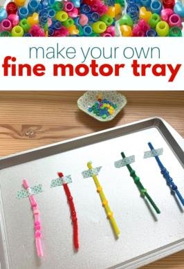 fine motor tray for preschool