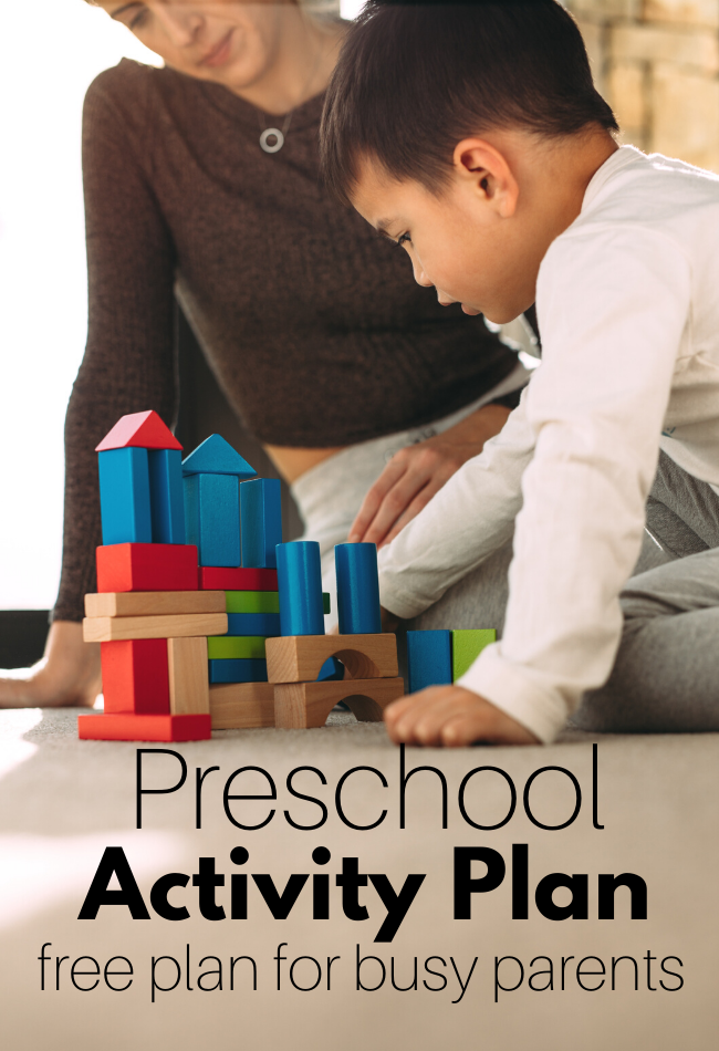 free preschool activity plan for home