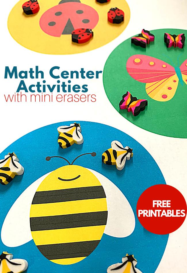 math center activities for preschool kindergarten