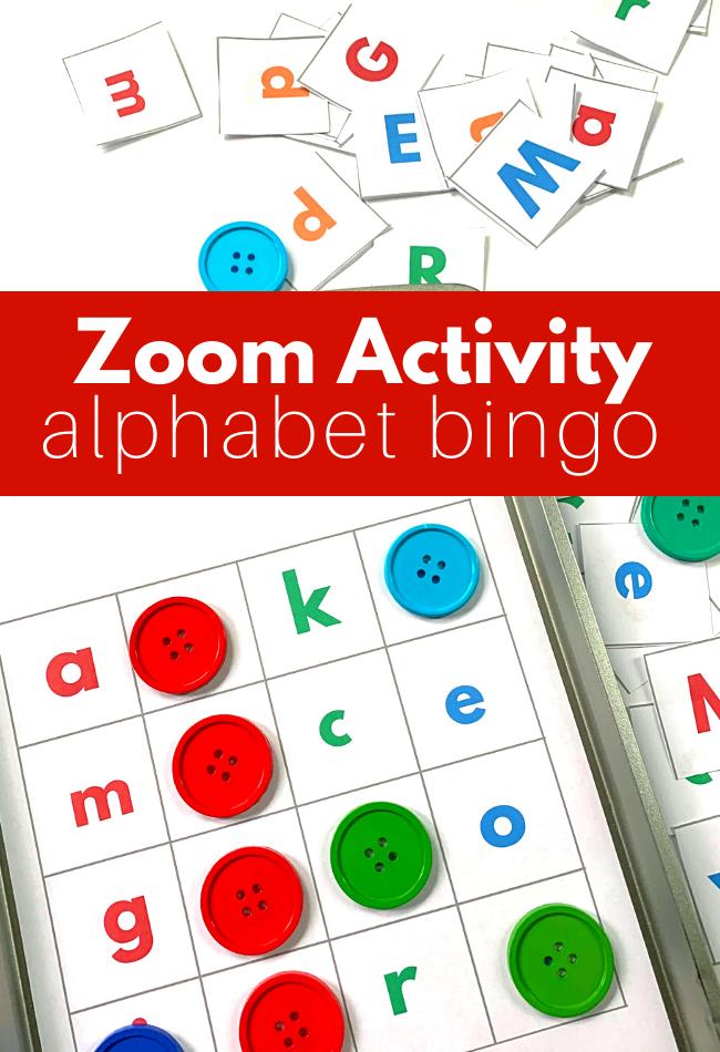 PreK Zoom Activity - Alphabet Bingo - No Time For Flash Cards