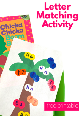 letter matching activity for Chicka Chicka Boom Boom