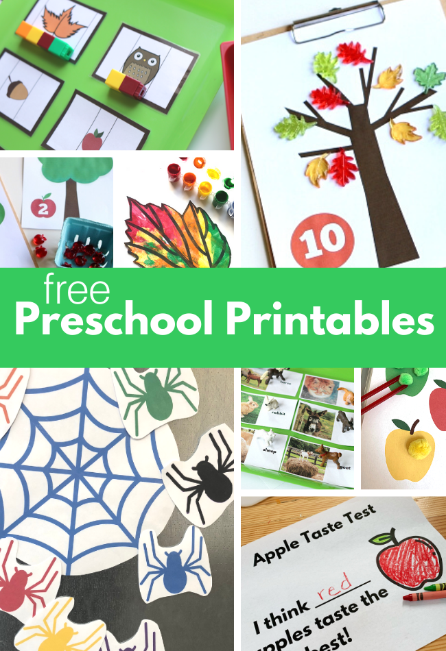 Free Preschool Printables For Fall - No Time For Flash Cards