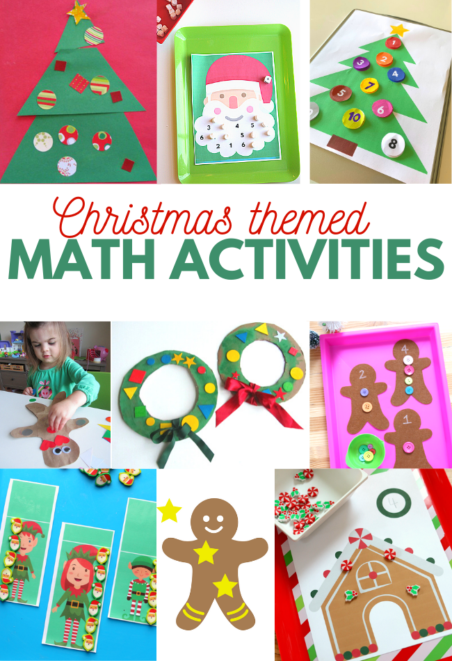christmas math activities for preschool and kindergarten