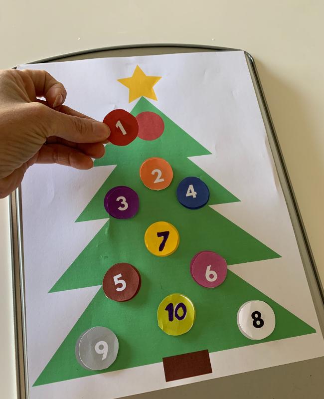 Printable Christmas activity for preschool