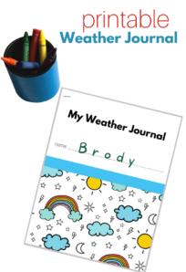 weather journal for preschool