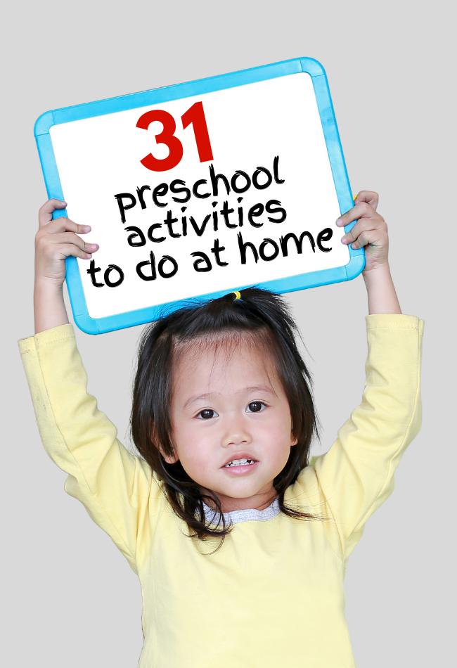preschool activities at home